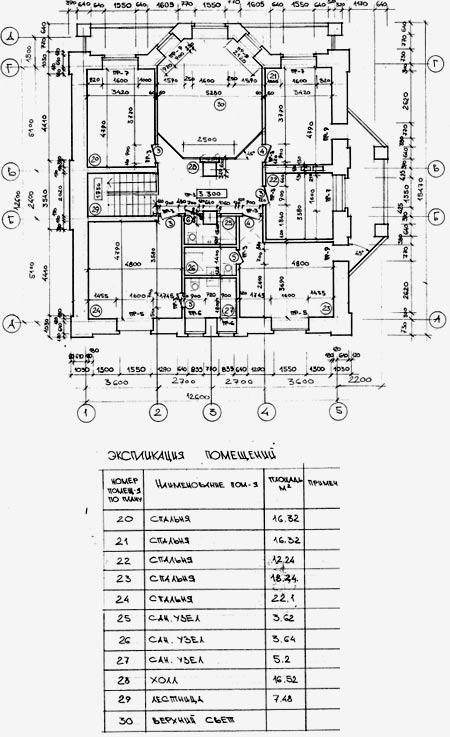 Схема бти здания