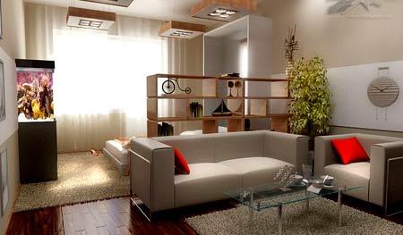 зонирование гостиной
