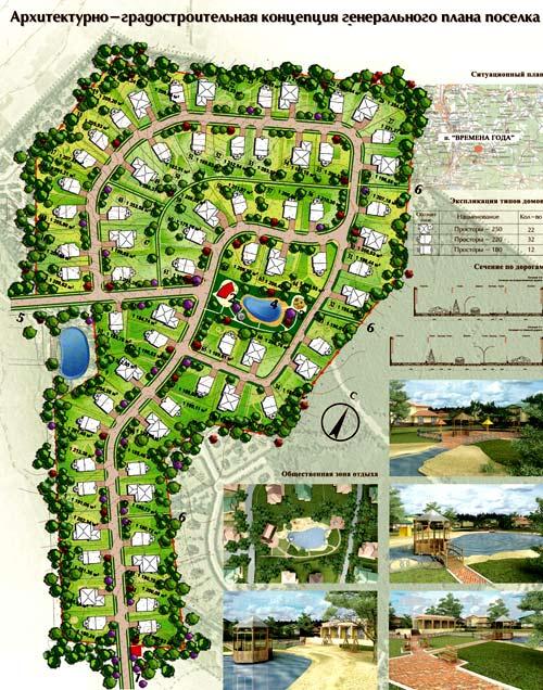 планировка поселка