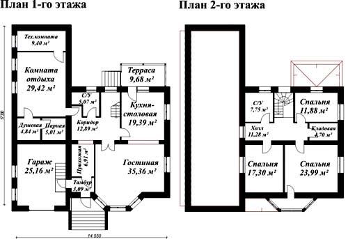 план дома 14х17