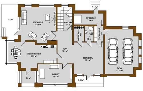 планировка элитного дома