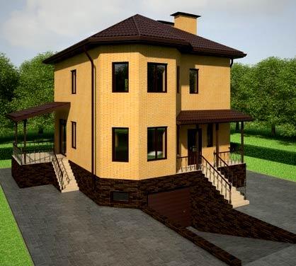 дом с подземным гаражом