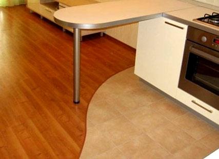 комбинированный кухонный пол