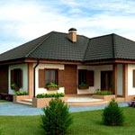 Одноэтажные дачные домики