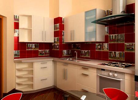 дизайн кухни 9 м