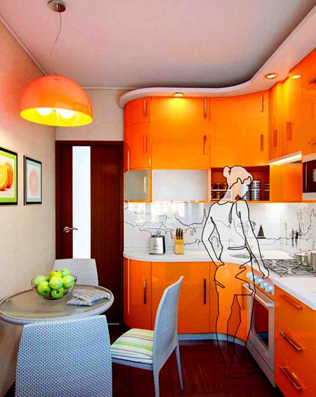 проект кухни 9 метров