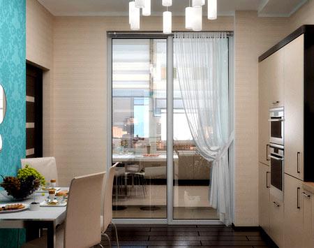 кухня с балконом 10 метров