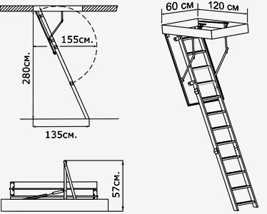 конструкция чердачной лестницы