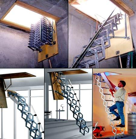ножничная лестница