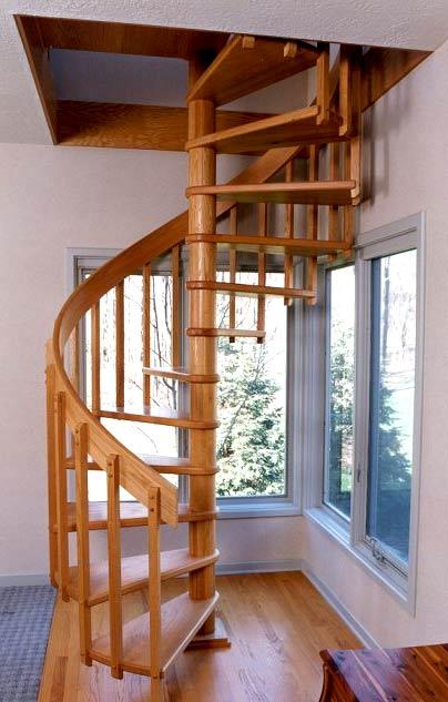 винтовая лестница на чердак