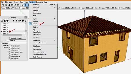 каркасный дом 3D