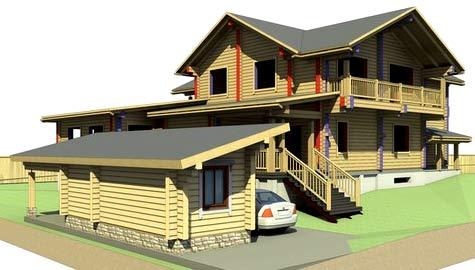 проект деревянного коттеджа