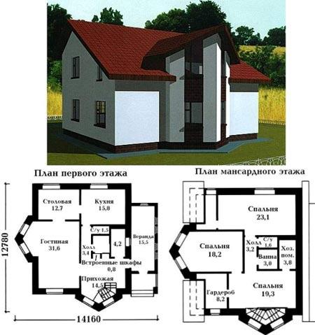 дом с двумя эркерами