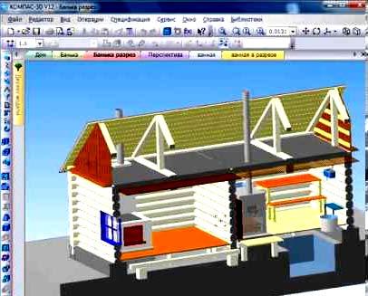 проект дома КОМПАС-3D