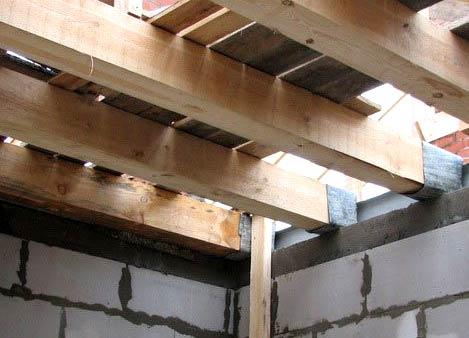перекрытия из деревянных балок