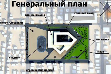 план территории школы