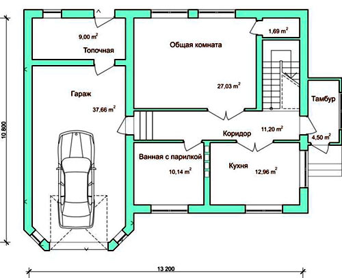 планировка сауны гаража