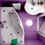 Планировка ванной в частном доме