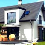 Проекты домов с эркером и мансардой