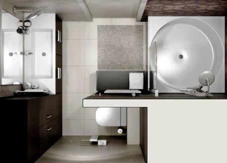 планировка ванной с пеналами