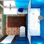 Планировка и дизайн ванной комнаты площадью 3 кв. м