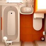 Планировка и дизайн ванной комнаты 4 кв. м