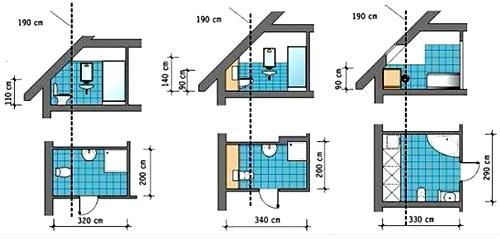 варианты планировки ванной
