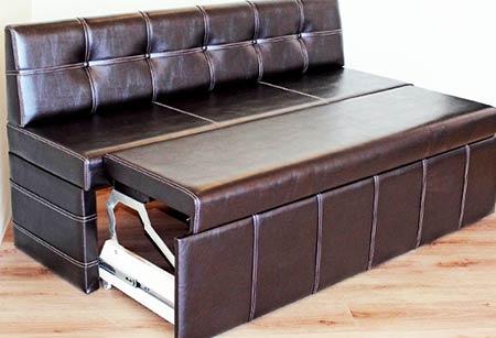 кожаная обивка дивана
