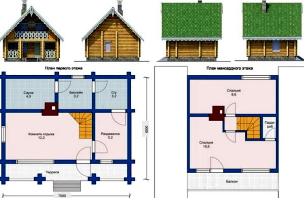 планировка деревенского дома