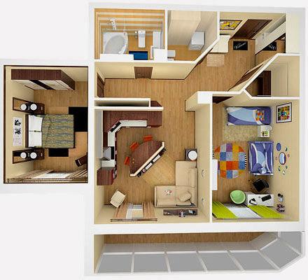 3D планировка квартира
