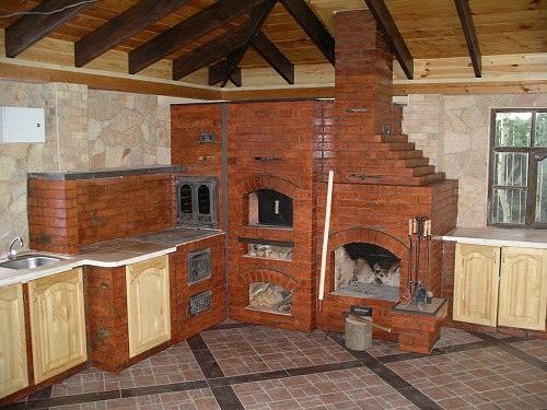 дом с камином