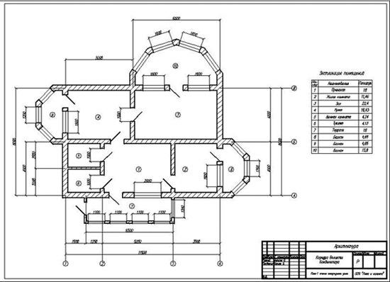 планировка дом AutoCAD