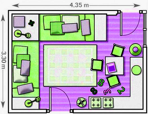 план детской комнаты