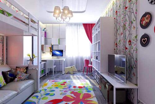 оформление комнаты две девочки