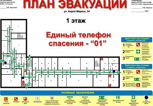 щиты план эвакуации