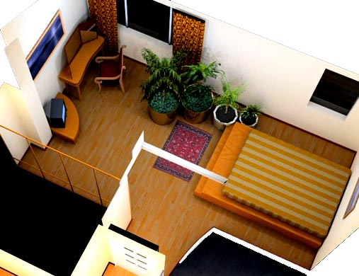 3d визуализация спальня