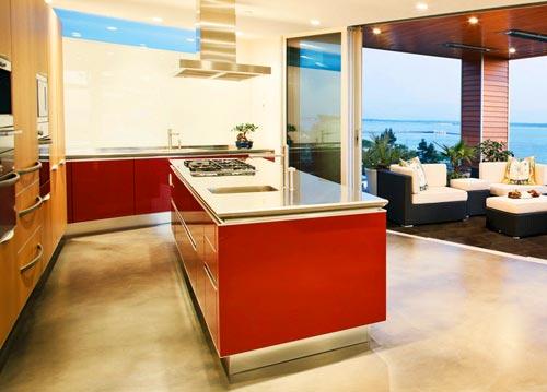 кухня гостиная терраса