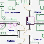 Проект дома с двумя спальнями