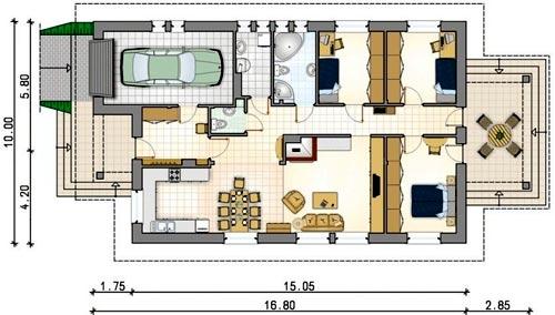 дом три спальни