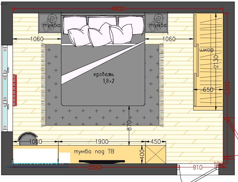 планировка комнаты 15 метров