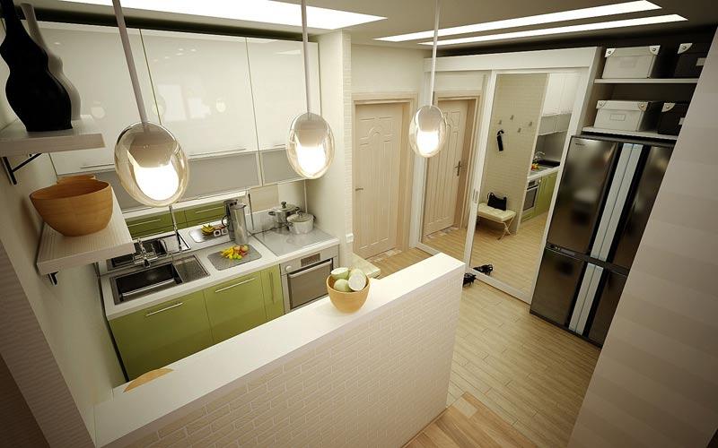 перегородка в кухне
