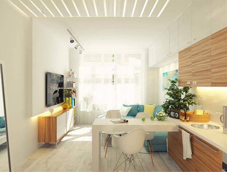 объединённые  комнаты  в квартире