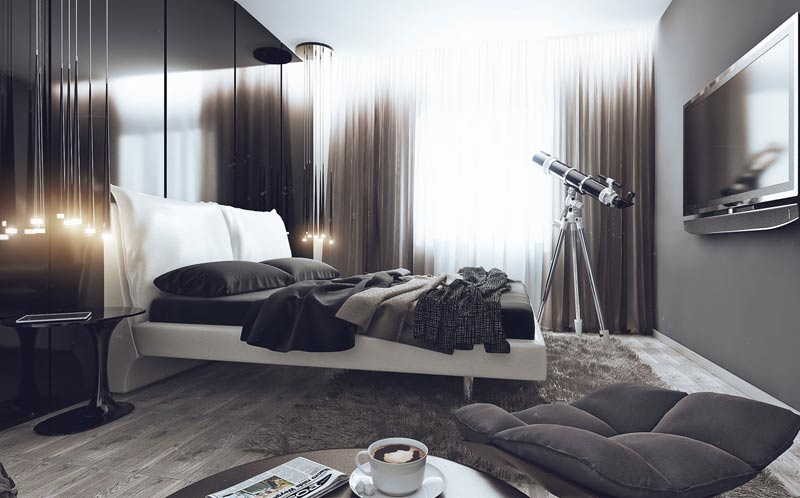 хай-тек спальня