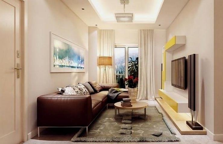 узкая гостиная