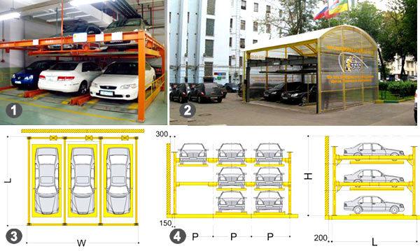двухэтажная парковка