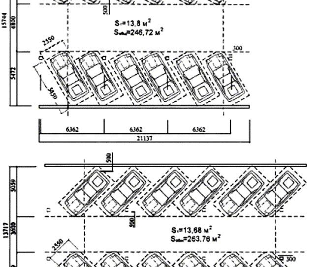 планировка парковки