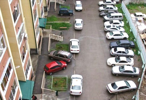 незаконная парковка