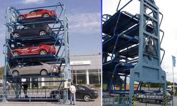 Многоярусные смарт-паркинги