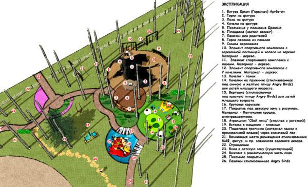 план детского комплекса