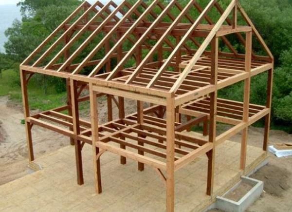 каркасно-стоечная конструкция дома